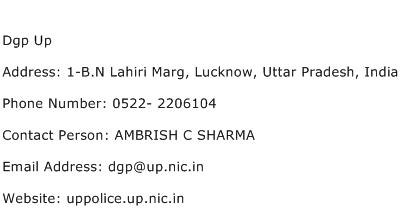 Dgp Up Address Contact Number