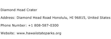 Diamond Head Crater Address Contact Number