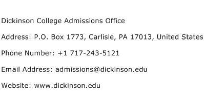 Dickinson college admissions essay