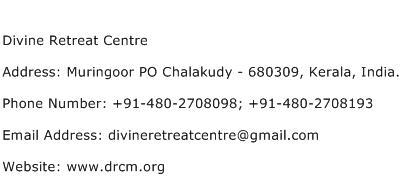 Divine Retreat Centre Address Contact Number