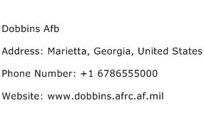 Dobbins Afb Address Contact Number