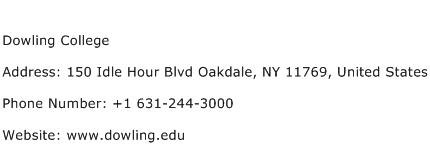 Dowling College Address Contact Number