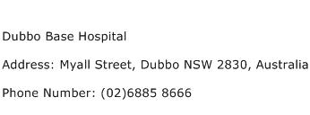 Dubbo Base Hospital Address Contact Number