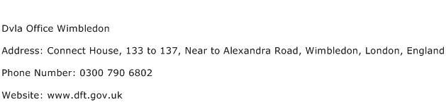 Dvla Office Wimbledon Address Contact Number