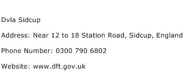 Dvla Sidcup Address Contact Number