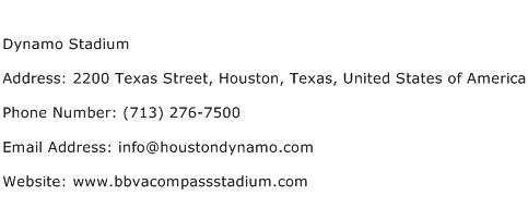Dynamo Stadium Address Contact Number