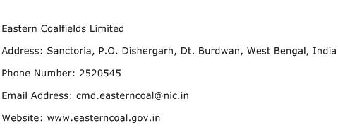 Eastern Coalfields Limited Address Contact Number
