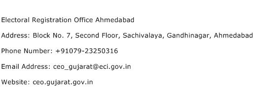 Electoral Registration Office Ahmedabad Address Contact Number
