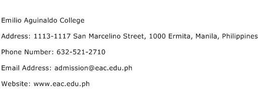 Emilio Aguinaldo College Address Contact Number