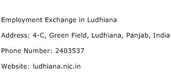 Employment Exchange in Ludhiana Address Contact Number