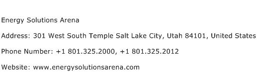 Energy Solutions Arena Address Contact Number