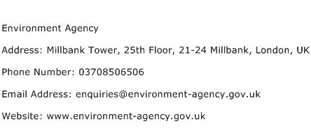 Environment Agency Address Contact Number