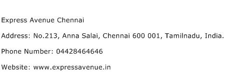 Express Avenue Chennai Address Contact Number