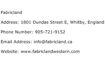 Fabricland Address Contact Number