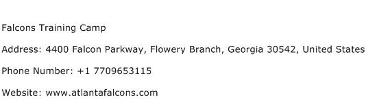 Falcons Training Camp Address Contact Number