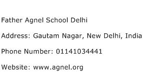 Father Agnel School Delhi Address Contact Number