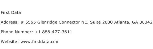 First Data Address Contact Number