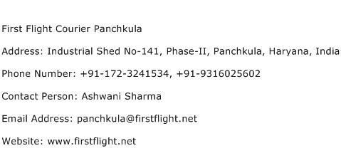First Flight Courier Panchkula Address Contact Number