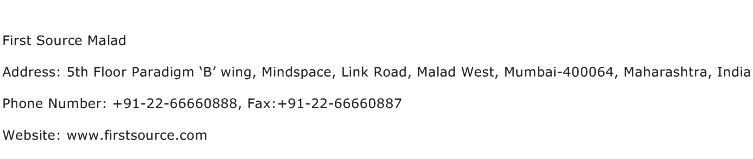 First Source Malad Address Contact Number