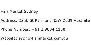 Fish Market Sydney Address Contact Number