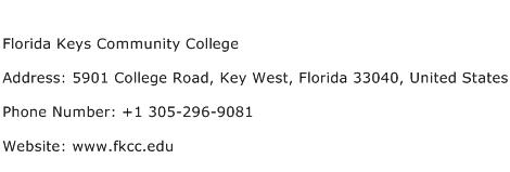 Florida Keys Community College Address Contact Number