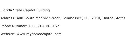 Florida State Capitol Building Address Contact Number