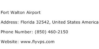 Fort Walton Airport Address Contact Number