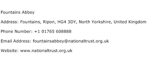 Fountains Abbey Address Contact Number