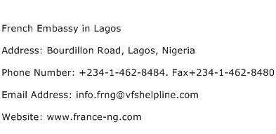 French Embassy in Lagos Address Contact Number