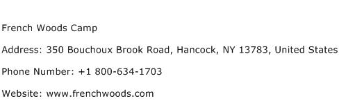 French Woods Camp Address Contact Number
