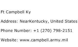 Ft Campbell Ky Address Contact Number