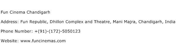 Fun Cinema Chandigarh Address Contact Number