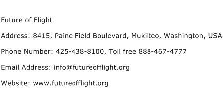 Future of Flight Address Contact Number