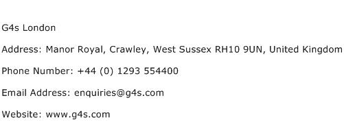 G4s London Address Contact Number