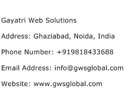 Gayatri Web Solutions Address Contact Number