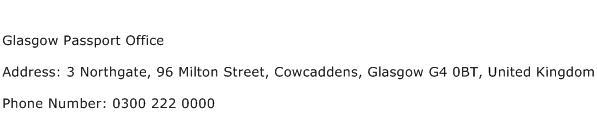 Glasgow Passport Office Address Contact Number