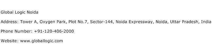 Global Logic Noida Address Contact Number
