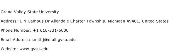 Grand Valley State University Address Contact Number