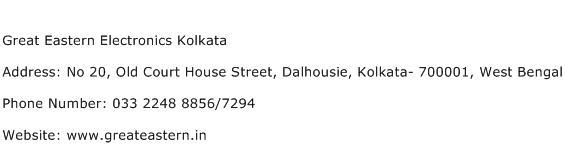Great Eastern Electronics Kolkata Address Contact Number