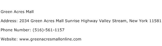 Green Acres Mall Address Contact Number