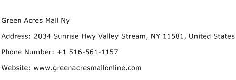 Green Acres Mall Ny Address Contact Number