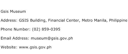 Gsis Museum Address Contact Number