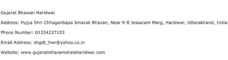 Gujarat Bhawan Haridwar Address Contact Number