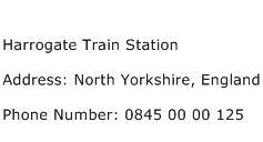 Harrogate Train Station Address Contact Number
