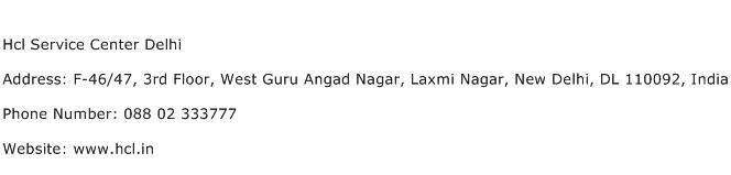 Hcl Service Center Delhi Address Contact Number