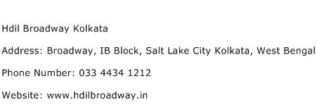 Hdil Broadway Kolkata Address Contact Number