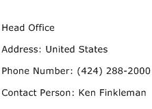 Head Office Address Contact Number