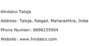 Hindalco Taloja Address Contact Number