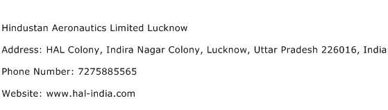 Hindustan Aeronautics Limited Lucknow Address Contact Number