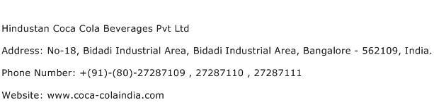 Hindustan Coca Cola Beverages Pvt Ltd Address Contact Number
